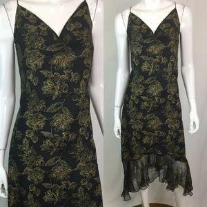 Tommy Bahama Silk Floral Midi Chiffon Dress